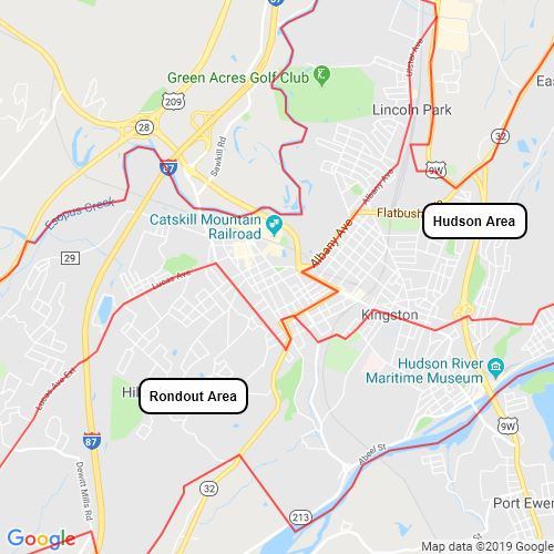 Upper Hudson Valley City Areas